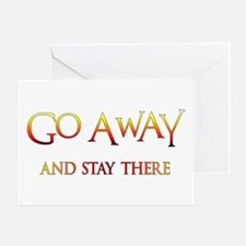 Go Away Party Shirt Greeting Card