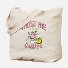 Angelic Caitlyn Personalized Tote Bag