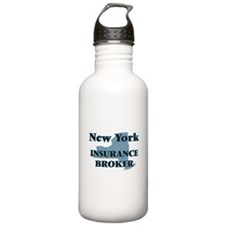 New York Insurance Bro Water Bottle