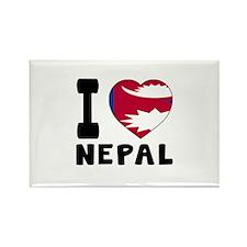 I Love Nepal Rectangle Magnet