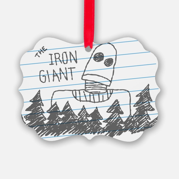 Iron Giant Doodle Ornament