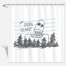 Iron Giant Doodle Shower Curtain
