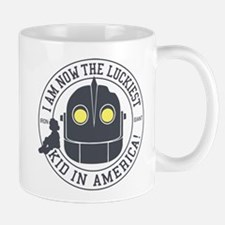 Iron Giant Luckiest Kid Hogarth Mugs