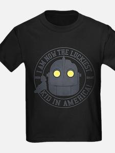 Iron Giant Luckiest Kid Hogarth T-Shirt