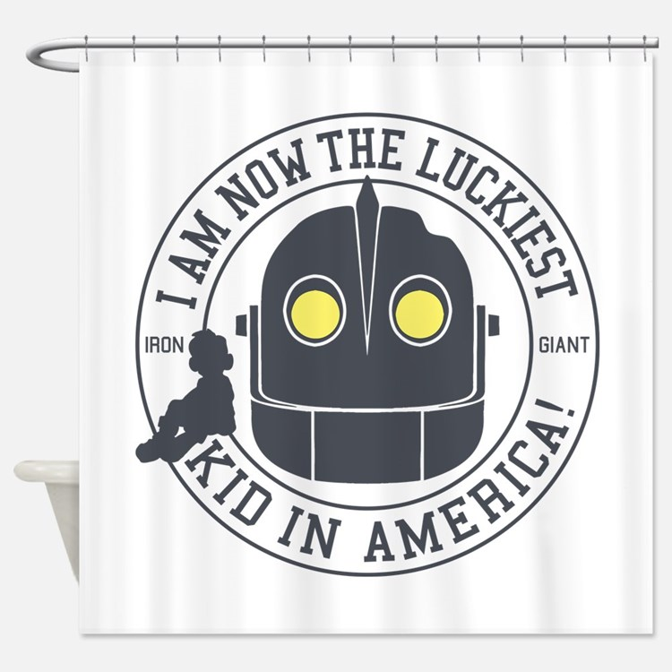 Iron Giant Luckiest Kid Hogarth Shower Curtain