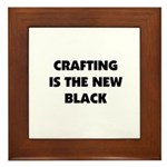 Crafting is the New Black Framed Tile
