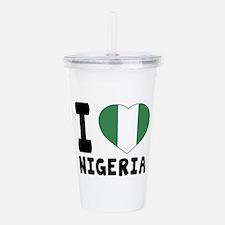 I Love Nigeria Acrylic Double-wall Tumbler