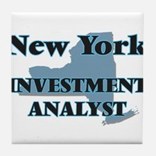 New York Investment Analyst Tile Coaster