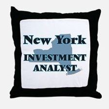 New York Investment Analyst Throw Pillow
