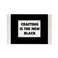 Crafting is the New Black Rectangle Magnet