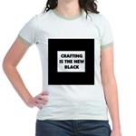 Crafting is the New Black Jr. Ringer T-Shirt