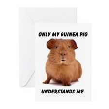 GUINEA PIG Greeting Cards (Pk of 10)