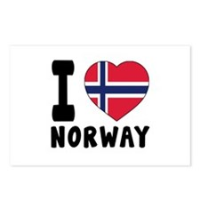 I Love Norway Postcards (Package of 8)
