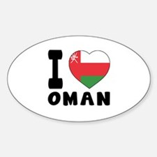 I Love Oman Sticker (Oval)