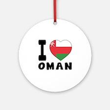 I Love Oman Round Ornament