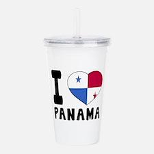 I Love Panama Acrylic Double-wall Tumbler