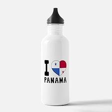 I Love Panama Water Bottle