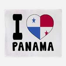 I Love Panama Throw Blanket
