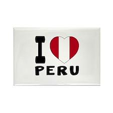 I Love Peru Rectangle Magnet