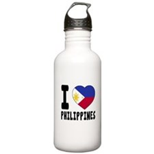 I Love Philippines Water Bottle