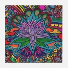 Cute Meditate Tile Coaster