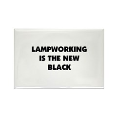 Lampworking is the New Black Rectangle Magnet (10
