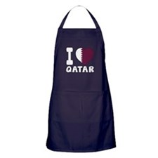 I Love Qatar Apron (dark)