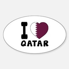 I Love Qatar Decal