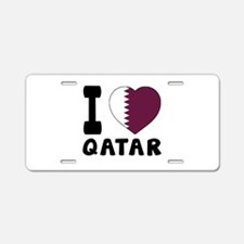 I Love Qatar Aluminum License Plate