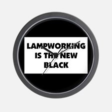 Lampworking is the New Black Wall Clock