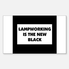 Lampworking is the New Black Rectangle Decal