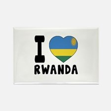 I Love Rwanda Rectangle Magnet
