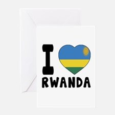 I Love Rwanda Greeting Card