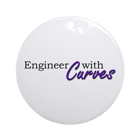 Engineer with Curves Ornament (Round)