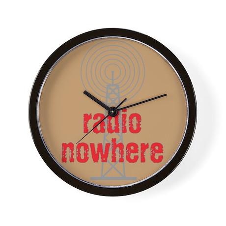 Radio Nowhere Wall Clock
