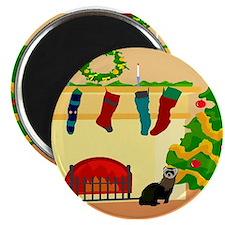 """Christmas Ferret 2.25"""" Magnet (100 pack)"""