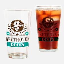 Beethoven Rocks Drinking Glass