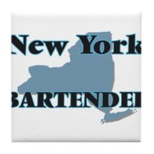 New York Bartender Tile Coaster