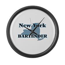 New York Bartender Large Wall Clock