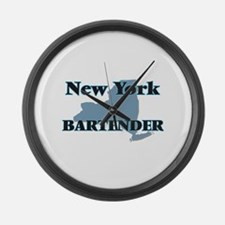 New York Bartender Large Wall Clock