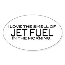 Jet Fuel Oval Decal