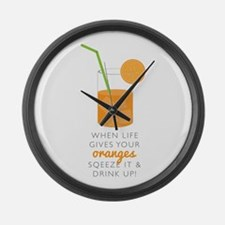 Drink Up Large Wall Clock