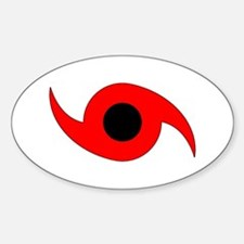 Horizontal Hurricane Symbol Sticker (Oval)