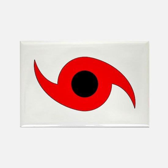 Horizontal Hurricane Symbol Rectangle Magnet