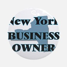 New York Business Owner Round Ornament