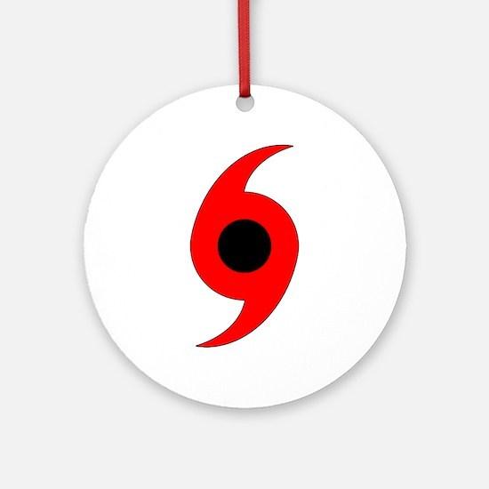 Hurricane Symbol Ornament (Round)