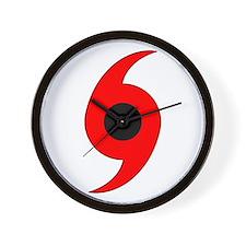Hurricane Symbol Vertical Wall Clock