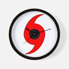 Hurricane Symbol Wall Clock