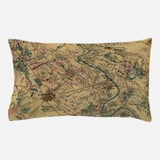 Vintage Antietam Battlefield Map (1862 Pillow Case