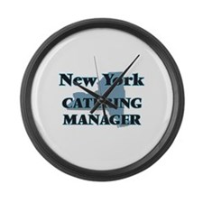 New York Catering Manager Large Wall Clock